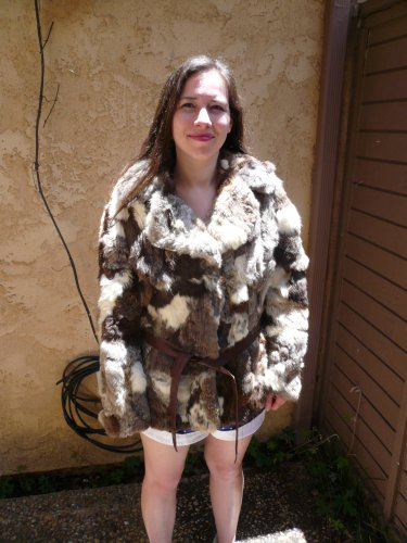 Rabbit Fur Patchwork Jacket (#45)
