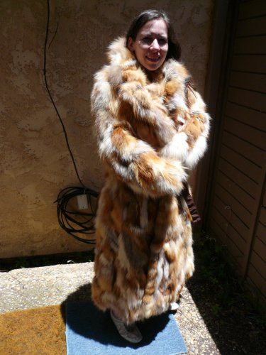 Red Fox Full Length Belted Fur Coat (#52)