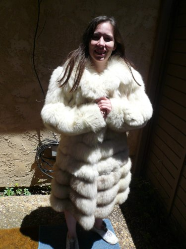 White Fox Fur Coat Convertable (#55)
