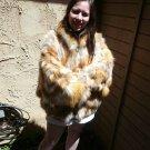 Red Fox Fur Jacket Bat Wing Sleeves (#60)