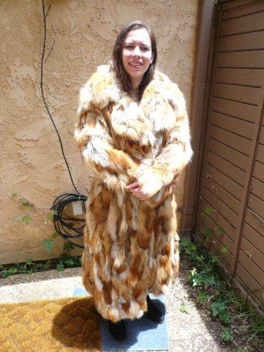 Full Length Red Fox Fur Coat (#65)