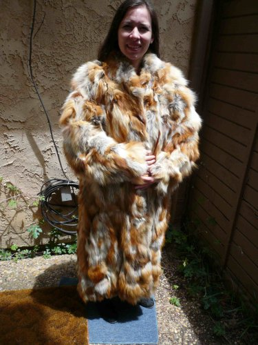 Full Length Red Fox Fur Coat (#71)