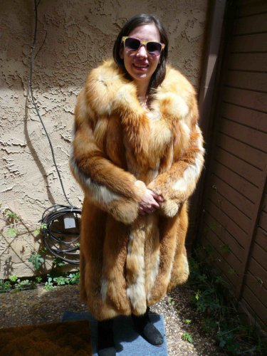 Full Length Red Fox Fur Coat (#73)