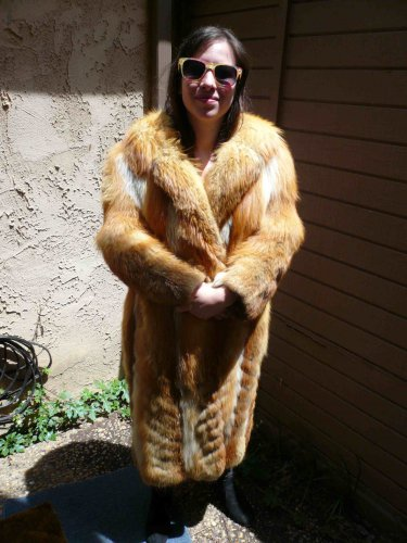 Full Length Red Fox Fur Coat (#75)