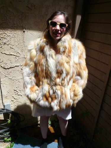 Red Fox Fur Jacket (rope belt) (#92)