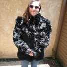 Black Rabbit Fur Jacket (#101)