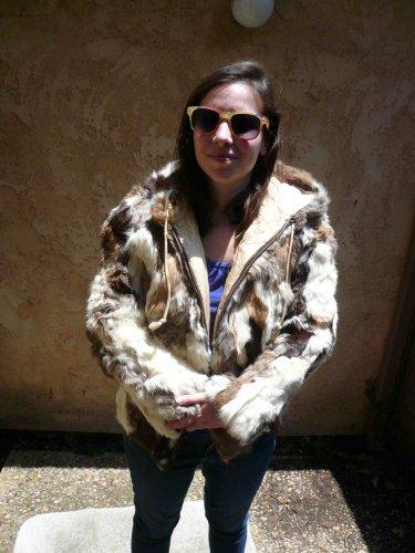 Patchwork Rabbit Fur Jacket (#103)