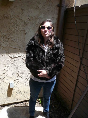 Black Rabbit Fur Jacket (#110)