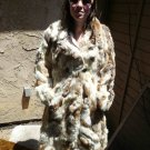 Full Length Patchwork Rabbit Fur Coat (#111)
