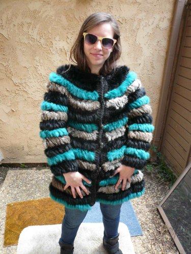 Multi Color Rabbit Fur Sweater (#121)