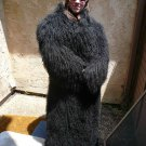 Full Length Black Mongolian Fur Coat (#130)