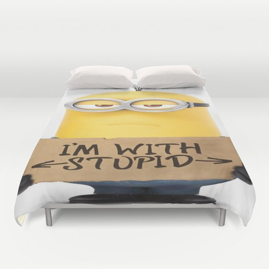 Funny minion DUVET COVERS for QUEEN SIZE 1Kd6UWc
