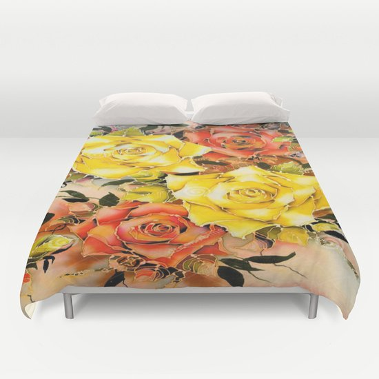 BATIK FLOWERS  DUVET COVER FOR KING SIZE 1iJRnY0