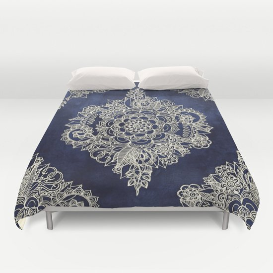 Cream Floral Moroccan Pattern  DUVET COVERS for QUEEN SIZE 1LGQiay