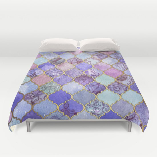 Moroccan Tile  DUVET COVERS for QUEEN SIZE 1LGT3IM