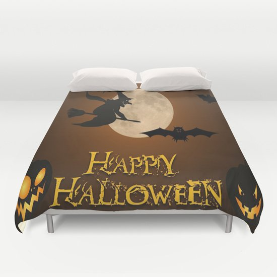 HAPPY HALLOWEEN DUVET COVERS for QUEEN SIZE 1RK4rbG