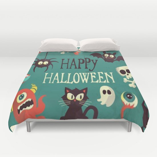 HAPPY HALLOWEEN DUVET COVERS for KING SIZE 1X6rlgs