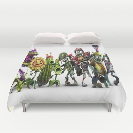 Zombie Vs Plant DUVET COVERS for KING SIZE 2fbGlOc