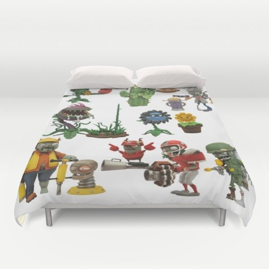 Zombie Vs Plant DUVET COVERS for KING SIZE 2gkeEib