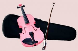 4/4 Violin with Accessories & Case Full Size, Pink