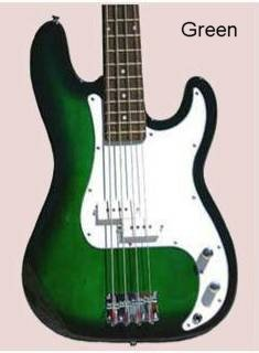 Bass Guitar, Green