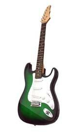 Electric Guitar, Green