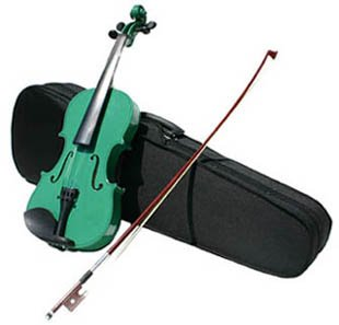 4/4 Violin with Accessories & Case Full Size, Green