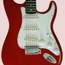 "FENDER GUITAR w/Case RED 39"" FENDER ELECTRIC GUITAR"