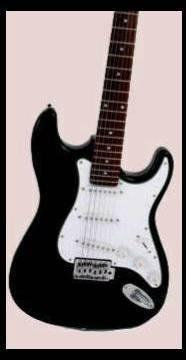 "39"" Electric Guitar, Black"