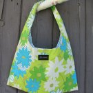 The Ashleigh Bag HandCrafted with Vintage Floral Fabric Retro Colors by JoJo Couture