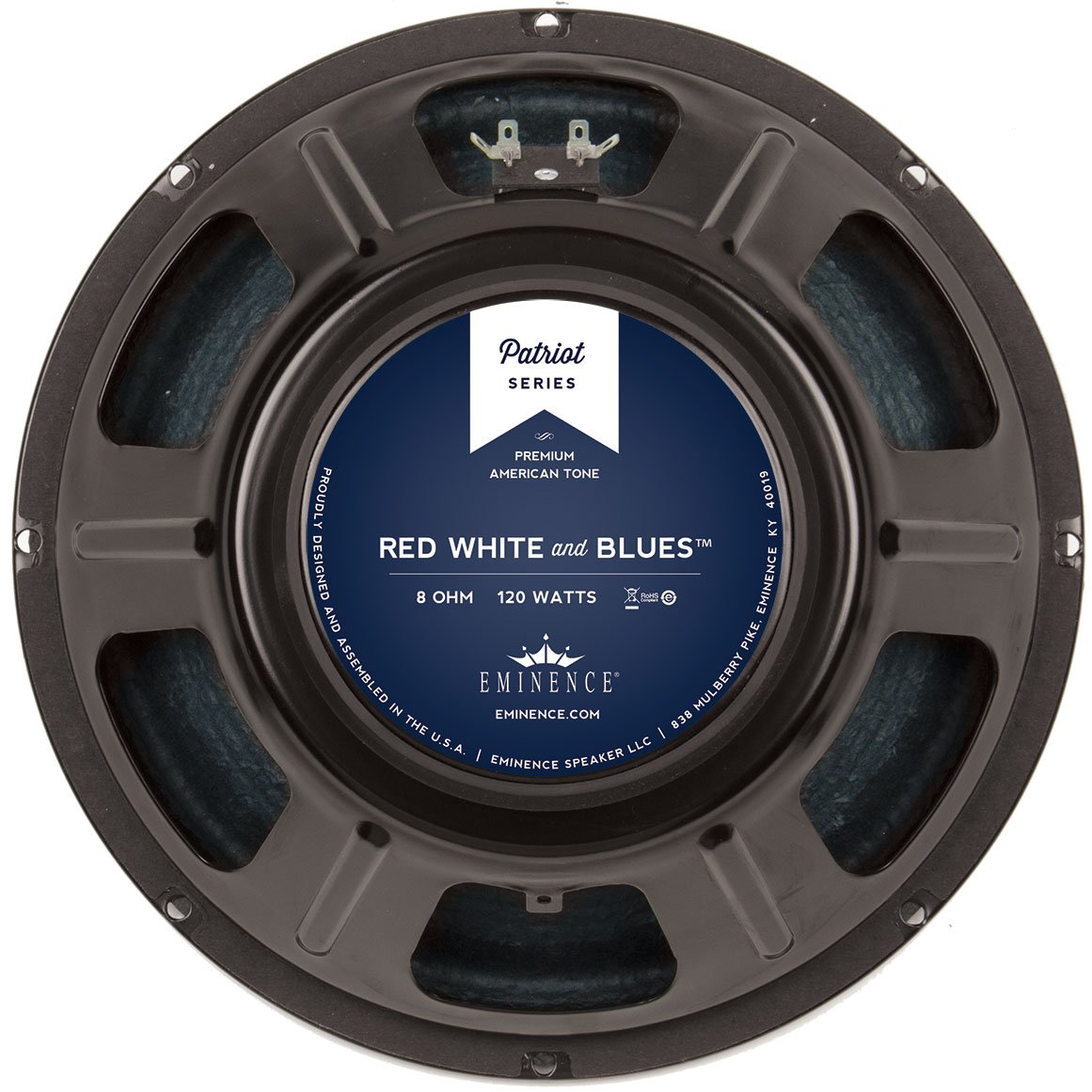 "Eminence Patriot Red White & Blues 12"" Guitar Speaker 120W 8 Ohm"