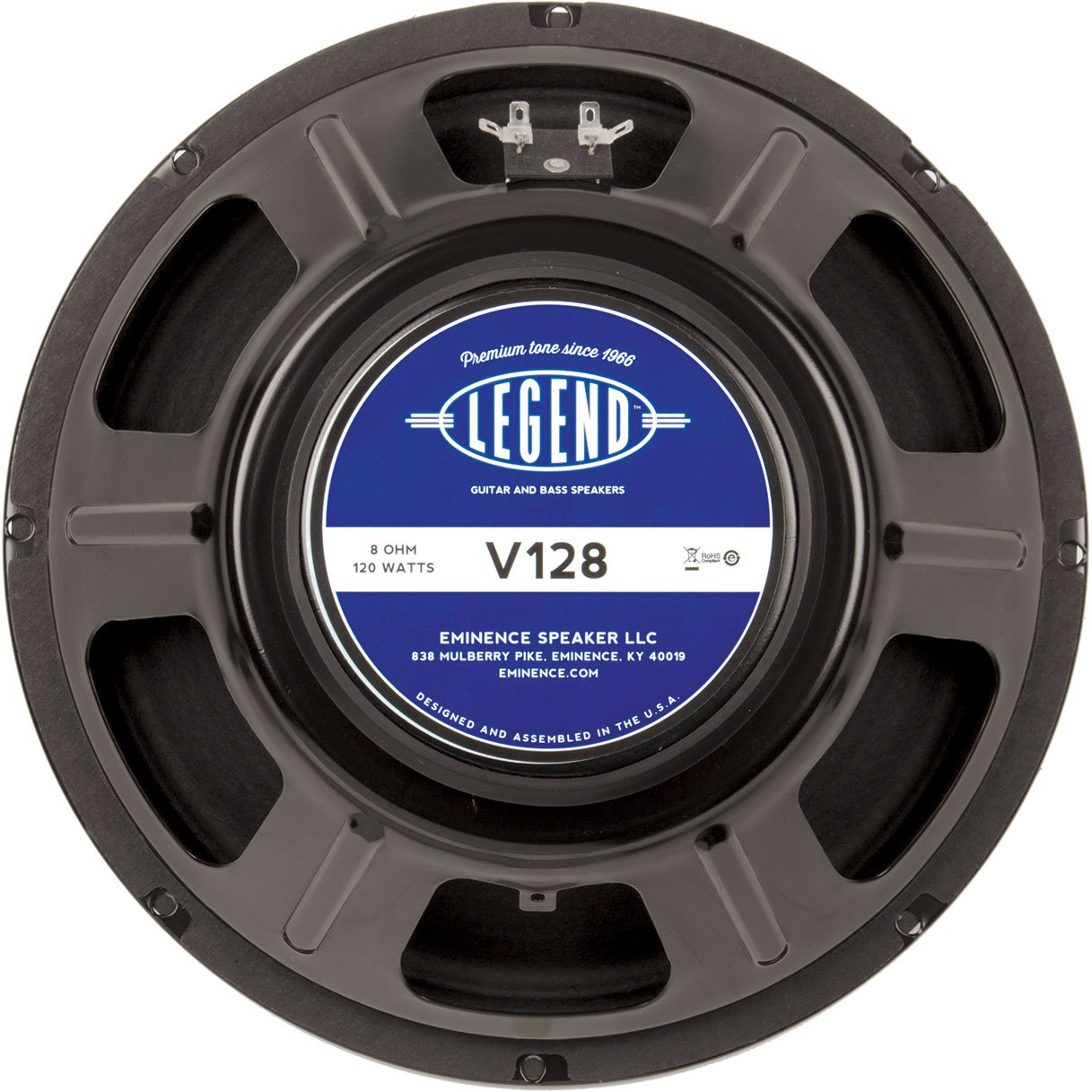 "Eminence Legend V128 12"" Guitar Speaker 120W 8 Ohm"