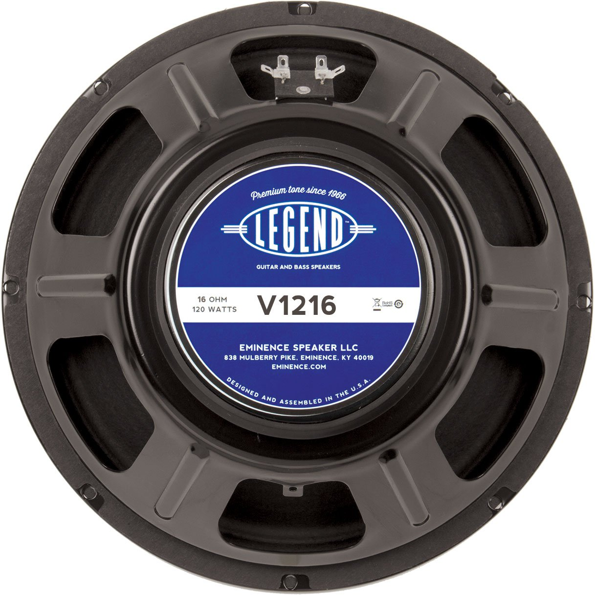 "Eminence Legend V1216 12"" Guitar Speaker 120W 16Ohm"