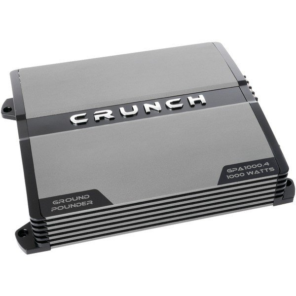 Crunch CRUGPA10004 Ground Pounder 4-Channel Class AB Amp (1,000 Watts)
