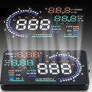 """A8 Automobile 5.5"""" Head Up Display OBD2 Speed Alarm & Fuel Consumption Fault Diagnostic Tool (Black)"""