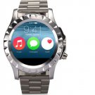 Round Dial Smart Bluetooth Watch with Stainless Steel Band, Phone Function, Notifiction, MP3/MP4