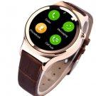 First circular smart watch phone support sim card nano glass capative screen reloj
