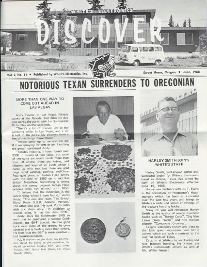 Discover Newsletter- White's Electronics June 1968