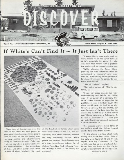 Discover Newsletter- White's Electronics June 1969