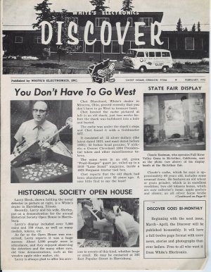 Discover Newsletter- White's Electronics Febuary 1972