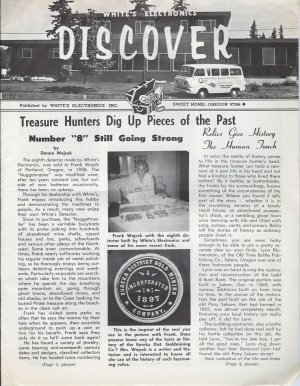 Discover Newsletter- White's Electronics August 1970