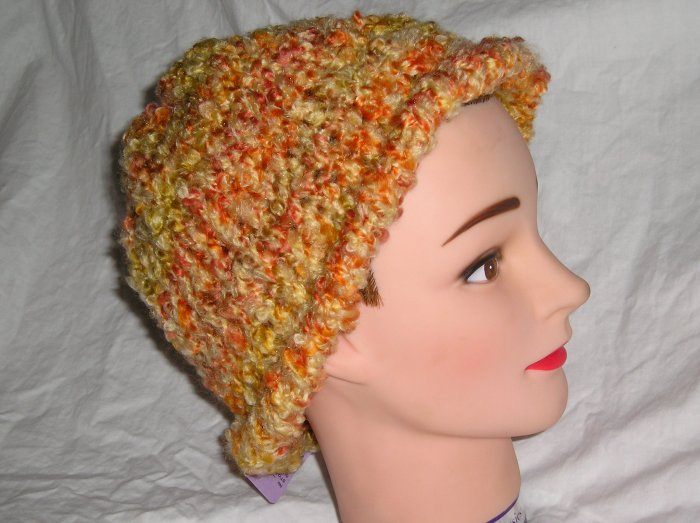 Large Knit Fashion Hat Cap Hand crafted in Oregon OOAK