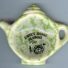 Sweet Home Alumni 1912-1992 Reunion Tea bag Holder Spongeware Grey Goose