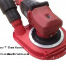 """Masons Dust Shroud 7"""" Deluxe Dust Control for Hand Grinders"""