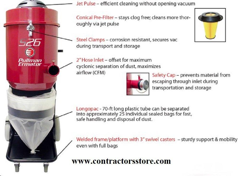 HEPA Dust Extractor Vacuum - 230V  Ermator S26