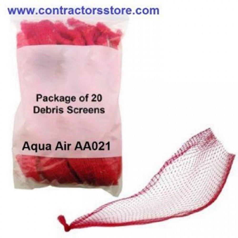 Central Vacuum Debris Screens Bag of 20 Aqua Air AA021