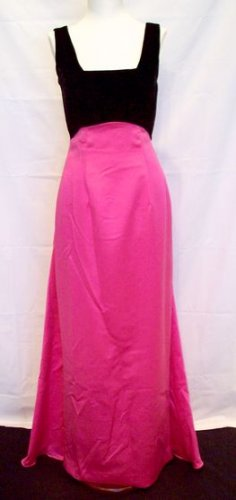 PINK AND BLACK EVENING GOWN/ FORMAL GOWN SIZE 7/8 BY ALYCE DESIGNS
