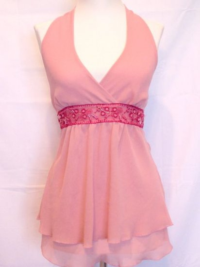 BEAUTIFUL ROSE HALTER SPRING/SUMMER TOP SIZE XSMALL NWOT
