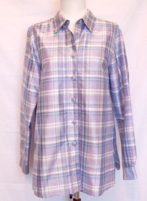 COLDWATER CREEK PURPLE LONG SLEEVED SILK TOP SIZE SMALL OR MEDIUM NWOT