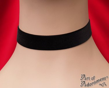 Victorian Gothic 22mm Black Velvet Ribbon Choker Custom Necklace Steampunk L05